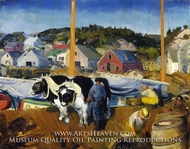 Ox Team, Wharf at Matinicus by George Bellows