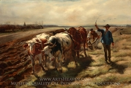 Oxen Plowing painting reproduction, Rosa Bonheur