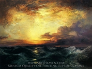 Pacific Sunset painting reproduction, Thomas Moran