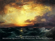 Pacific Sunset by Thomas Moran