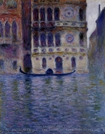 Palazzo Dario painting reproduction, Claude Monet
