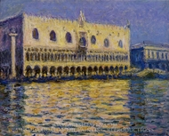 Palazzo Ducale painting reproduction, Claude Monet