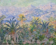 Palm Trees at Bordighera by Claude Monet