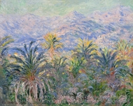 Palm Trees at Bordighera painting reproduction, Claude Monet