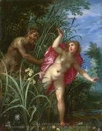 Pan Pursuing Syrinx painting reproduction, Hendrick Van Balen, The Elder