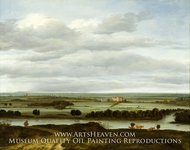 Panoramic Landscape near Rhenen with the Huis ter Lede painting reproduction, Anthonie Van Borssom
