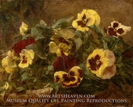 Pansies painting reproduction, Henri Fantin-Latour