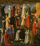 Paradise painting reproduction, Giovanni Di Paolo