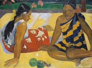 Parau Api Gibt's was Neues painting reproduction, Paul Gauguin