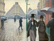 Paris Street, Rainy Weather painting reproduction, Gustave Caillebotte