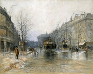 Paris Street Scene painting reproduction, Frank Myers Boggs