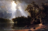 Passing Storm over the Sierra Nevada painting reproduction, Albert Bierstadt