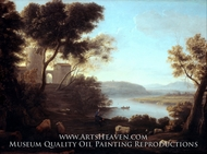 Pastoral Landscape: The Roman Campagna painting reproduction, Claude Lorraine