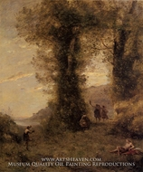 Pastorale by Jean-Baptiste Camille Corot