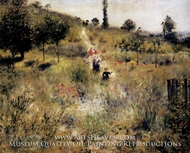 Path Leading through Tall Grass by Pierre-Auguste Renoir