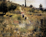 Path Leading through Tall Grass painting reproduction, Pierre-Auguste Renoir