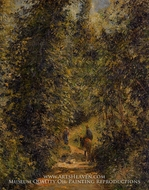 Path Under the Trees, Summer by Camille Pissarro