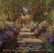 Pathway in Monet's Garden at Giverny by Claude Monet