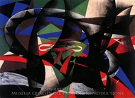 Patriotic Demonstration painting reproduction, Giacomo Balla
