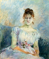 Paule Gobillard in Prom Dress painting reproduction, Berthe Morisot