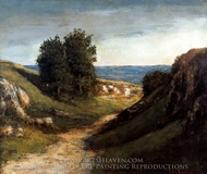 Paysage Guyere painting reproduction, Gustave Courbet