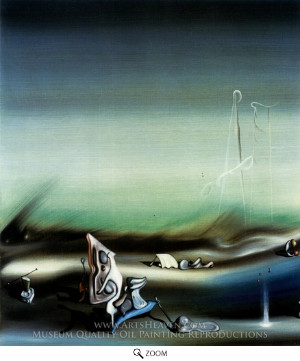 Painting Reproduction of Paysage Surrealiste, Yves Tanguy