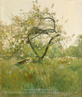 Peach Blossoms Villiers-le-Bel by Childe Hassam