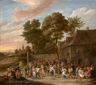 Peasants Dancing and Feasting painting reproduction, David Teniers, The Younger