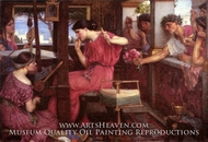 Penelope and the Suitors painting reproduction, John William Waterhouse