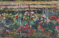 Peony Garden painting reproduction, Claude Monet