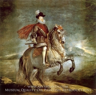 Philip III on Horseback by Diego Velazquez