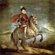 Philip III on Horseback painting reproduction, Diego Velazquez