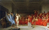 Phryne before the Areopagus painting reproduction, Jean-Leon Gerome