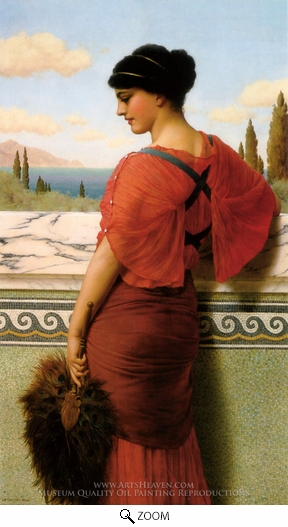 Painting Reproduction of Phyleis, John William Godward