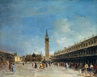 Piazza San Marco by Francesco Guardi