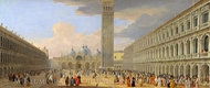 Piazza San Marco, Venice painting reproduction, Luca Carlevaris