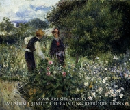 Picking Flowers painting reproduction, Pierre-Auguste Renoir