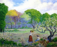 Picking Flowers painting reproduction, Paul Ranson