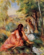 Picking Flowers (in the field) by Pierre-Auguste Renoir