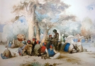 Picnic painting reproduction, Amedeo Preziosi