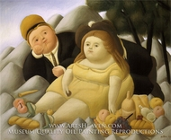 Picnic in the Mountains by Fernando Botero
