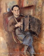 Pierre Mac Orlan by Jules Pascin
