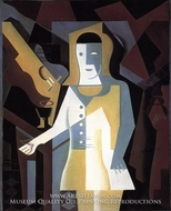 Pierrot painting reproduction, Juan Gris
