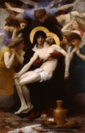 Pieta painting reproduction, William Adolphe Bouguereau