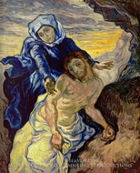 Pieta (after Delacroix) painting reproduction, Vincent Van Gogh