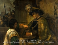 Pilate Washing His Hands painting reproduction, Rembrandt Van Rijn