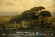 Pine Grove of the Barberini Villa by George Inness