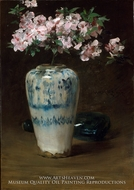 Pink Azalea, Chinese Vase by William Merritt Chase