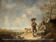 Piping Shepherds painting reproduction, Aelbert Cuyp
