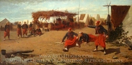 Pitching Quoits painting reproduction, Winslow Homer
